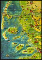 Landkarte Insel Sylt Und Umgebung - Gelaufen - Landkarten