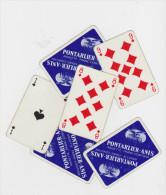 Pontarlier-Anis Anisette Franc-Comtoise : Jeu de 32 cartes complet en bion �tat .
