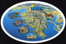Landkarte - Istrien Und Umgebung - Gelaufen - Landkarten