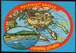Landkarte - Chalkidiki Und Umgebung - Gelaufen - Landkarten