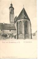 RARE CPA  Gruss Aus Brandenburg St Pauli-Kirche Avant 1904 Neuve Précurseur - Brandenburg