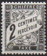 FRANCE -Taxe - 2 C. Duval Noir Neuf - Taxes