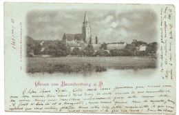 RARE  AK Gruss Aus Brandenburg 1898 !  Précurseur - Brandenburg