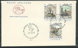 1979 ITALIA FDC CAVALLINO FONTANE NO TIMBRO ARRIVO - EDG8 - F.D.C.