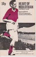 Official Football Programme HEARTS - SV RODA JC KERKRADE Friendly Match 1975 - Habillement, Souvenirs & Autres