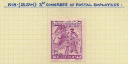 POLAND 1950 Postal Workers Congress SG 663 M QW771 - Neufs