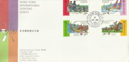 Hong Kong 1995 Sports Events FDC - 1997-... Chinese Admnistrative Region