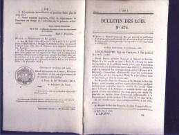 Bulletin Des Lois Du 20 Décembre 1841 – 173 Ans D'âge ! - Convention Additionnelle Destinée à Règler Le Transport Des Co - Décrets & Lois