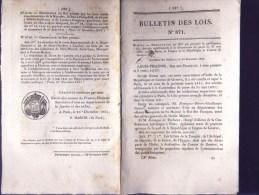 Bulletin Des Lois Du 20 Décembre 1841 – 173 Ans D'âge ! - Convention Additionnelle à La Convention De Poste Entre La Fra - Décrets & Lois