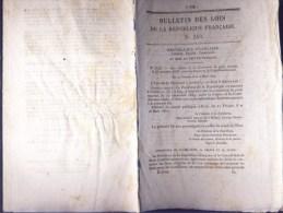 Bulletin Des Lois Du 4 Avril 1850 – 164 Ans D'âge ! - Convention De Poste Conclue Entre La France Et La Confédération Su - Decrees & Laws