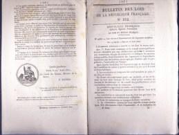 Bulletin Des Lois Du 22 Avril 1850 – 164 Ans D'âge ! - Construction D'un Pont Suspendu à Pomas (Aude) Et Ses Droits De P - Decrees & Laws