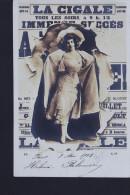 LA CIGALE 1902 HELENE PALSUIRI ???? CP PHOTO - Cabarets