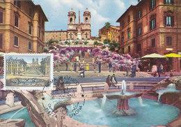 D17909 CARTE MAXIMUM CARD 1989 ITALY - SPAIN'S SQUARE ROME CP ORIGINAL - Unclassified