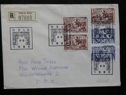 43/663  LETTRE NORGE  1980 - Norvège