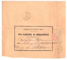 Lettre De REVEL Du 3 OCT 1902 Sur MOUCHON 15 C N° 117 CHEMINS DE FER Du MIDI Avis D'arrivage De Marchandise > Belleserre - 1900-02 Mouchon