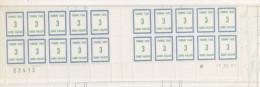 FRANCE FICTIF TAXE N° 38 3F BLEU ET VERT JAUNE BAS DE FEUILLE  AVEC COIN DATE DU 1.10.1985 - Phantom