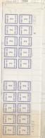 FRANCE FICTIF TAXE N° 37 2F BLEU VIOLET BAS DE FEUILLE  AVEC COIN DATE DU 1.10.1985 - Phantom