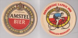Amstel Bier , Amsterdam Holland - 1981 , Gold Race , Heerlen Meerssen - Bierdeckel