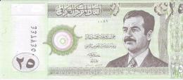 IRAK 25 Dinars Banknote von 2001 unzirkuliert siehe Scan