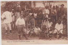 CARTE POSTALE ANCIENNE,AFRIQUE,SENEGAL, DAKAR,métier,ouvriers Sénégalais,paysans,pelle, Mineurs - Sénégal