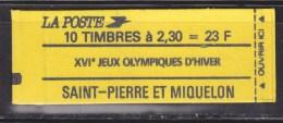 Saint Pierre Et Miquelon Carnet C518 Marianne Du Bicentenaire Dite De Briat 2f30 Rouge X10 Neuf Gommé - Booklets
