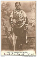 GUERRE 14-18 ..-- MONASTIR ..-- SERBIE ..-- Jeune Fille Serbe En Tenue De Fête . 1918 Vers France . Voir Verso . - Guerre 1914-18