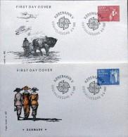 Denmark 1982 EUROPA Minr.749-50  FDC ( Lot 3026) - FDC