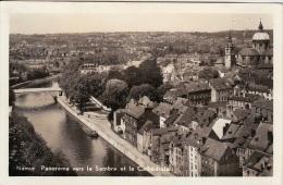 NAMUR PANORAMA VERS LA SAMBRE ET LA CATHEDRALE - Namur