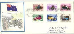 Rally International Des Vieux Tacots En Nouvelle-Zélande. Enveloppe Souvenir Premier Jour Wellington 1972 - FDC