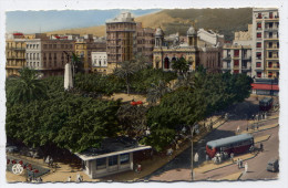 Alg�rie--ORAN--La Place Foch (petite animation,autocars), cpsm n�36 �d A.Sirecky