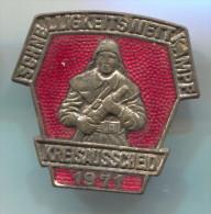 Fireman, Pompieri, Firefighters, Feuerwehr, East Germany (DDR) Big Pin, Badge, Enamel - Brandweerman
