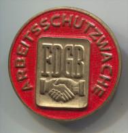 Arbeits Schutzwache, FDGB, East Germany (DDR), big pin, badge