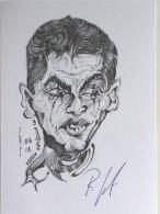 CARTE BRISTOL - Rolf GRAF - Dédicace - Hand Signed - Autographe Authentique  - Caricature Originale - Cycling