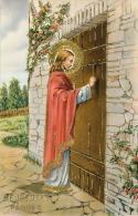 """Jolie Carte Fantaisie Italienne Avec Dorure JESUS De """"Heureuses Pâques"""" - Pasqua"""