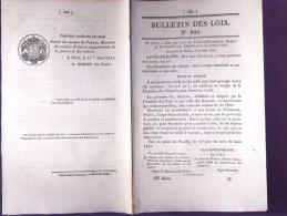 Bulletin Des Lois Du 23 Juin 1841 – 173 Ans D'âge ! - Etablissement De Deux Nouveaux Services De Paquebots à Vapeur Sur - Décrets & Lois