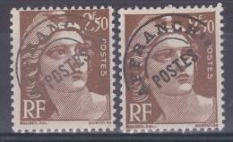 FRANCE  VARIETE   N° YVERT PREO 95/ N°  MAURY PREO 101 TYPE GANDON NEUFS LUXE - Abarten: 1945-49 Ungebraucht