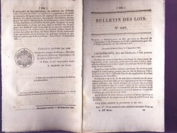 Bulletin Des Lois Du 28 Septembre 1841 – 173 Ans D'âge ! - Construction D'un Pont Suspendu à Villeneuve-St-Georges, Avec - Décrets & Lois