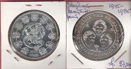 MEDAL NEDERLAND 40 JAAR BEVRIJDING 40 YRS LIBERATION 1945/1985 SILVERED FDC - Pays-Bas
