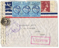 AIR MAIL EXPRESS  Départ LE CAIRE EGYPTE Pour GENEVE SUISSE 28 07 1959 - Poste Aérienne