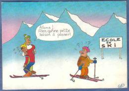 Carte Postale Dessin De Guy Delaunay  D10  école De Ski Trés Beau Plan - Illustrateurs & Photographes