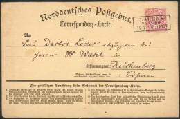 NDP, Karte(NDP Nr.16) Lauban-Reichenberg In Böhmen, Feinst - Briefe U. Dokumente