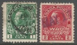 Canada. 1915 War Tax. 1c, 2c Used - War Tax