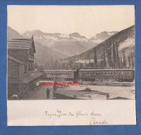 Photo Ancienne - Rogers Pass From The Glacier House , CANADA - Train Canada Pacific - Voir Wagon - Treinen