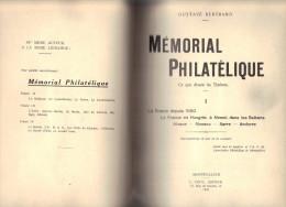 MEMORIAL PHILATELIQUE De Gustave Bertrand 1932 La France, Monaco, Sarre, Andorre, - Philatélie Et Histoire Postale