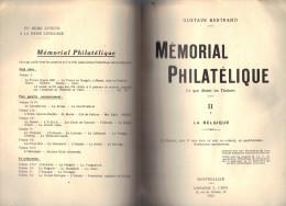 MEMORIAL PHILATELIQUE De Gustave Bertrand 1933 La Belgique, Planchage Des Classiques - Philatélie Et Histoire Postale