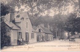 86  LEUGNY SUR CREUSE LE ROND DU CHENE BIEN ANIME CARTE TRES PEU COURANTE 1922 - France