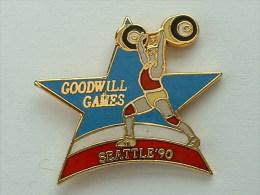 Pin´s GOODWILL GAMES - SEATTLE 90 - HALTEROPHILIE - Haltérophilie