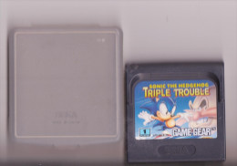 JEU SEGA GAME GEAR SONIC THE HEDGEHOG TRIPLE TROUBLE - Sega