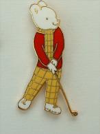 Pin´s GOLF - ANIMAL JOUEUR - Golf