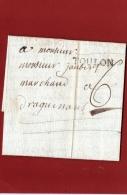 LETTRE DE TOULON À DRAGUIGNAN EN 1788 VOIR LES SCANS - 1701-1800: Précurseurs XVIII
